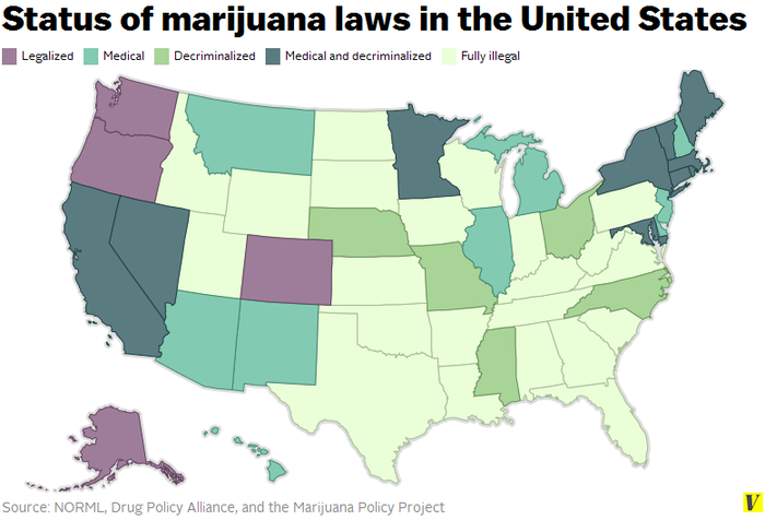 here s a quick summary of the legal similarities and differences in marijuana laws in states where weed is legal